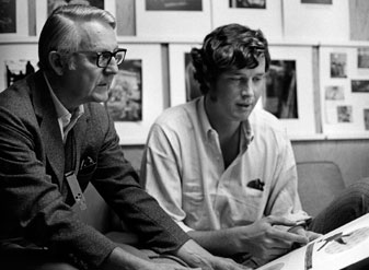Michael Crichton with The Andromeda Strain director Robert Wise