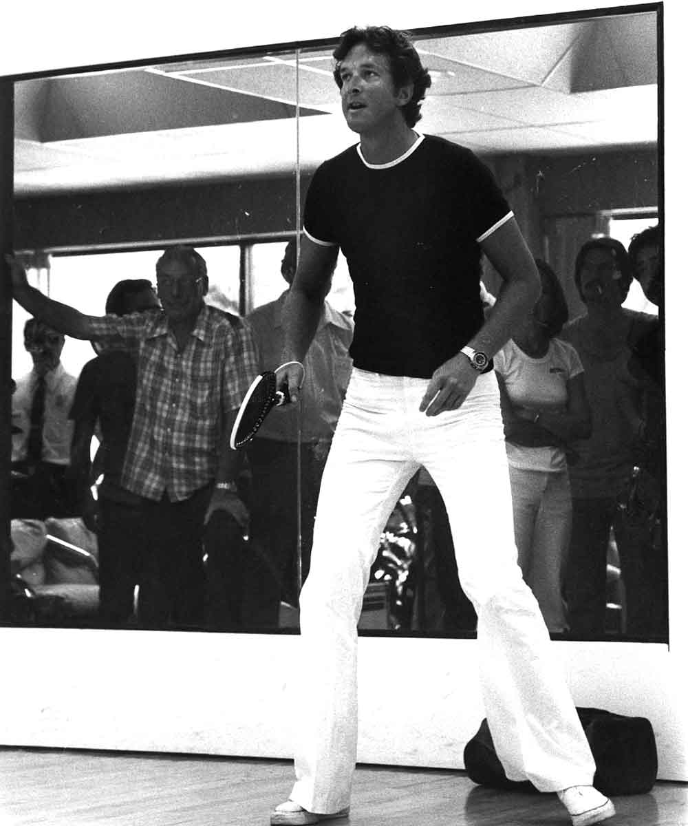 Michael Crichton playing Racquetball at The Center Courts
