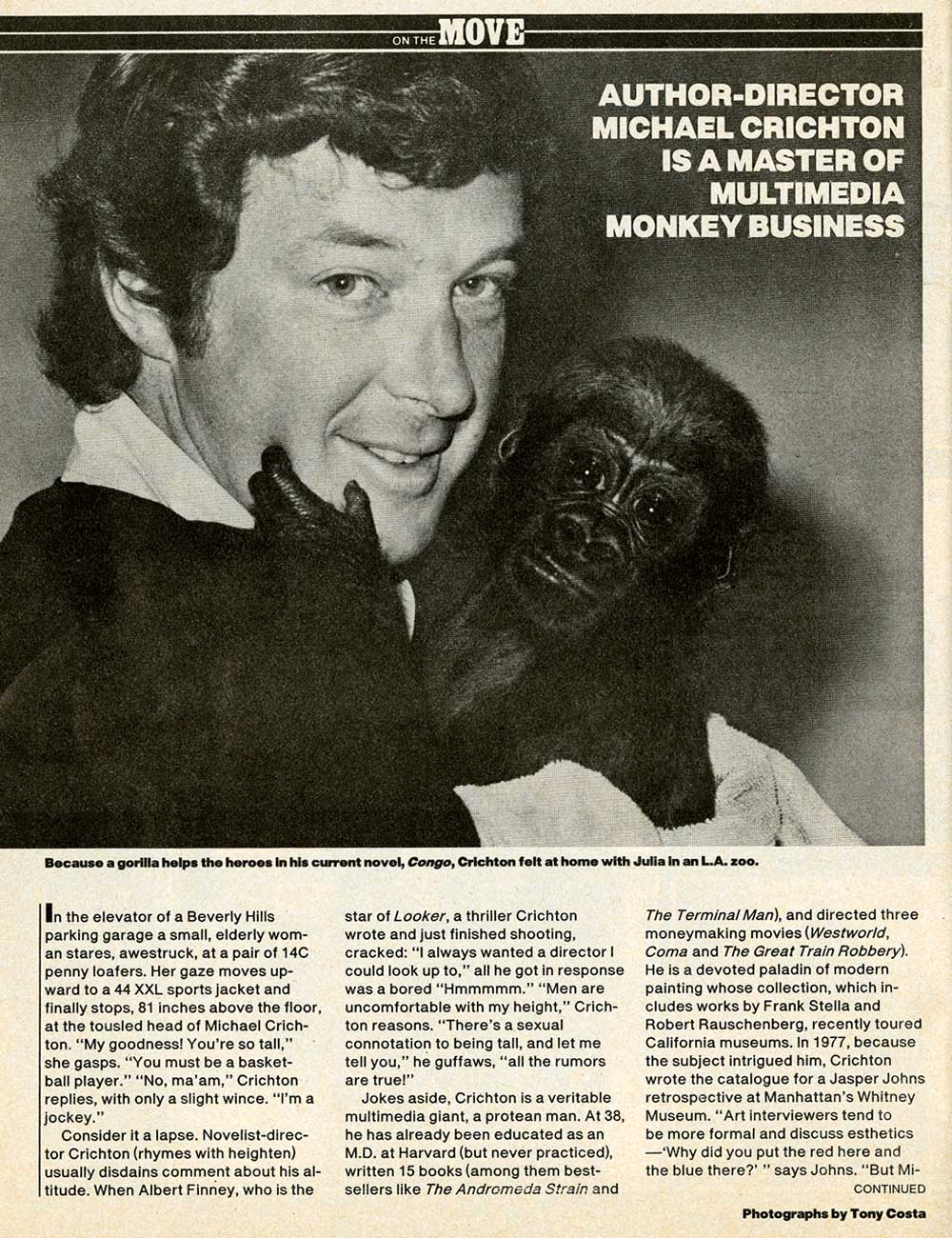 Michael Crichton in People Magazine - 1981