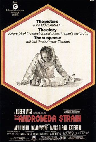 The Andromeda Strain based on the novel by Michael Crichton
