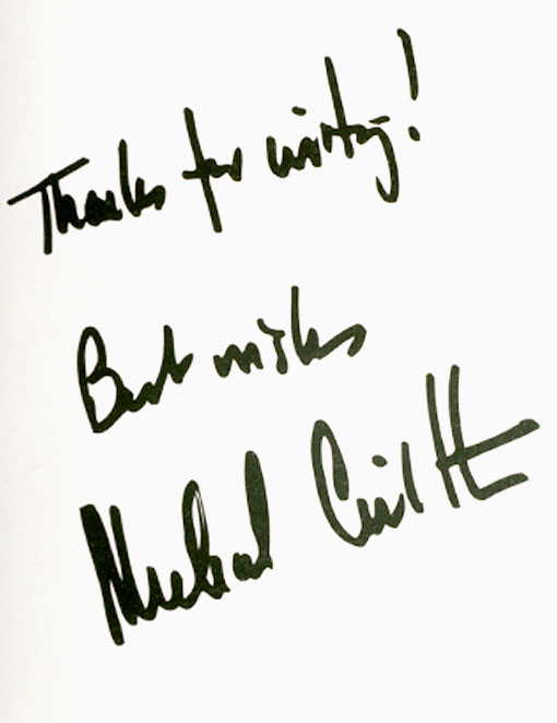 Thanks for Writing by Michael Crichton